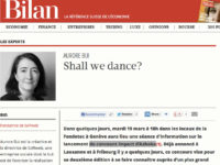 "Article ""Shall we dance"" paru sur le site lebilan.ch"