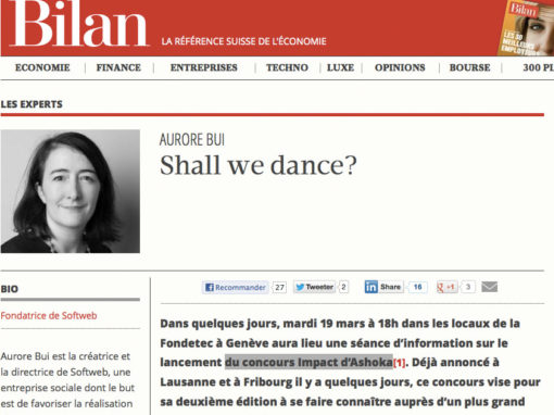 """Article """"Shall we dance"""" paru sur le site lebilan.ch"""