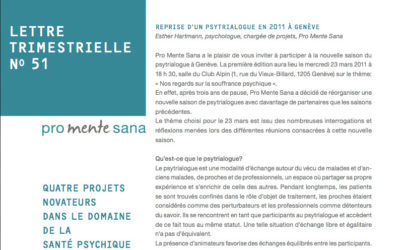 Quaterly newsletter N°51 Promente Sana